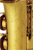 The Yamaha YAS-62 Alto Sax features elaborate hand engaving