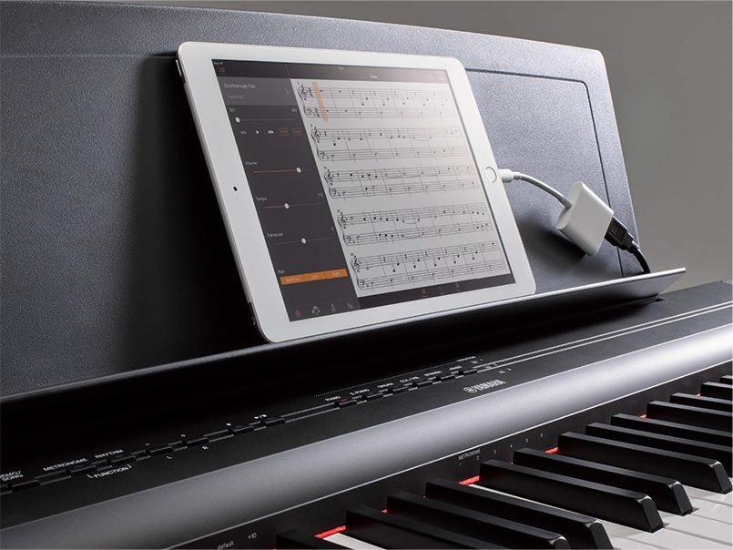 Use the Yamaha Smart Pianist app with your P125 and integrate your smart device with your playing