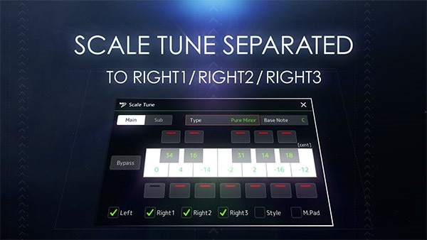 Improved scale tune function