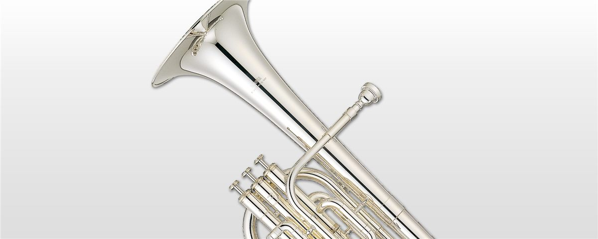 Musical Instruments & Gear Yamaha Yah-203s Tenor Horn In Silver Plate Brass